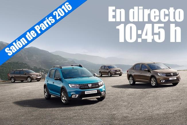 Salón de París 2016 - rueda de prensa de Dacia