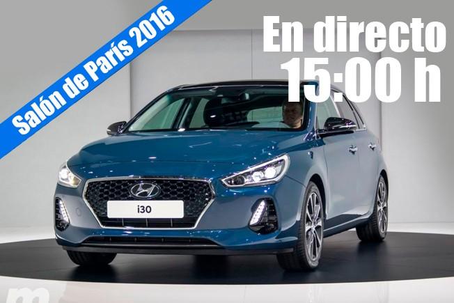 Salón de París 2016 - presentación de Hyundai en directo
