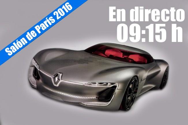 Salón de París 2016: rueda de prensa de Renault en directo