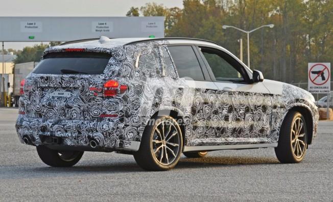 BMW X3 2017 - foto espía posterior