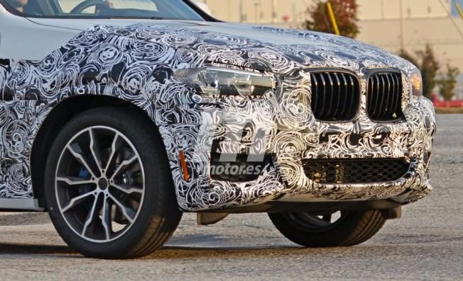 BMW X3 2017 - foto espía frontal