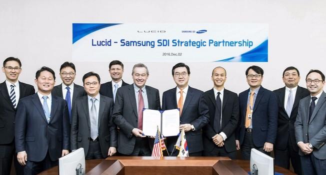 Lucid Motors y Samsung SDI