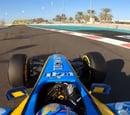 La espectacular 'on board' de Fernando Alonso con el Renault R25 en Abu Dhabi