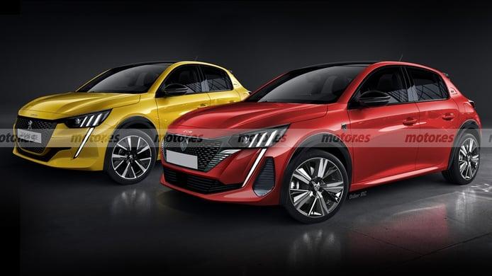 Recreación del Peugeot 208 2023
