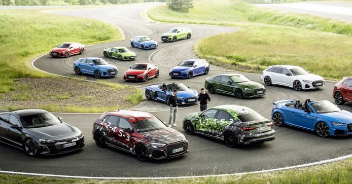 Familia de modelos RS y R8 de Audi Sport