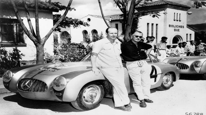 Hans Klenk y Karl Kling en la Carrera Panamericana