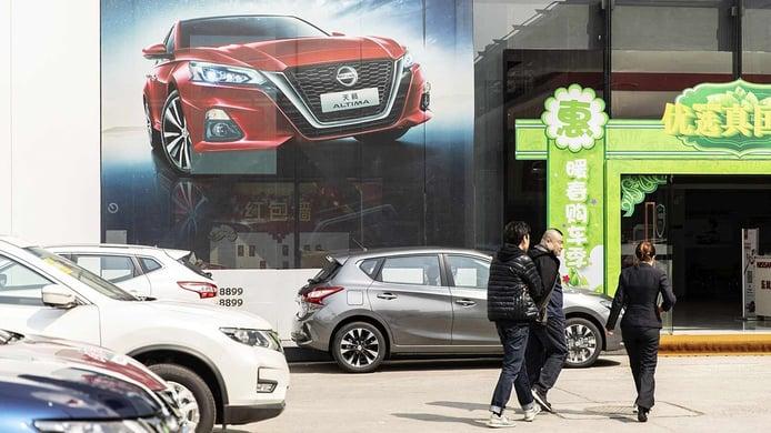 Ventas de coches en China en agosto de 2021