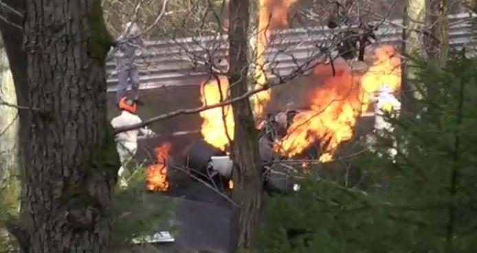 Así se filmó el accidente de Lauda en Nürburging para la película Rush