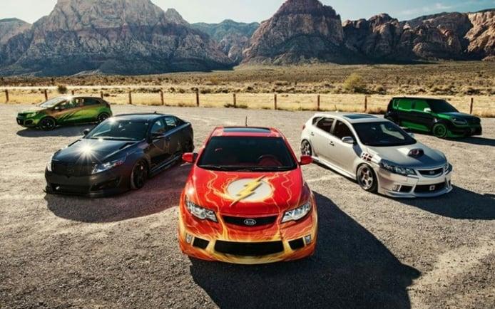 """Kia desvela cuatro nuevos coches para la """"Liga de la Justicia"""""""
