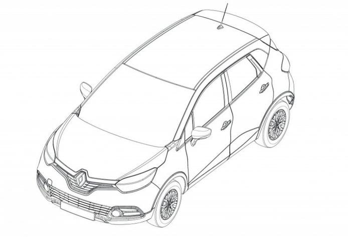 Se filtran los bocetos del Renault Captur: el pequeño SUV del rombo