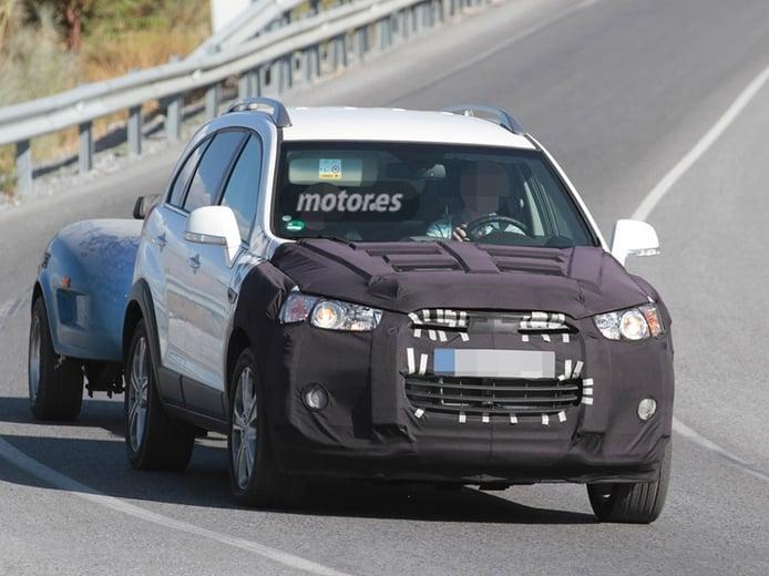El Chevrolet Captiva 2015 descubierto por carreteras españolas