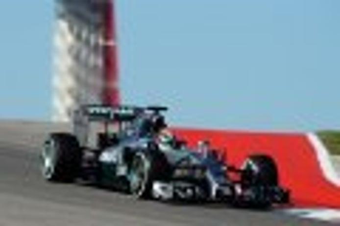Hamilton y Rosberg asustan en los segundos libres de Austin