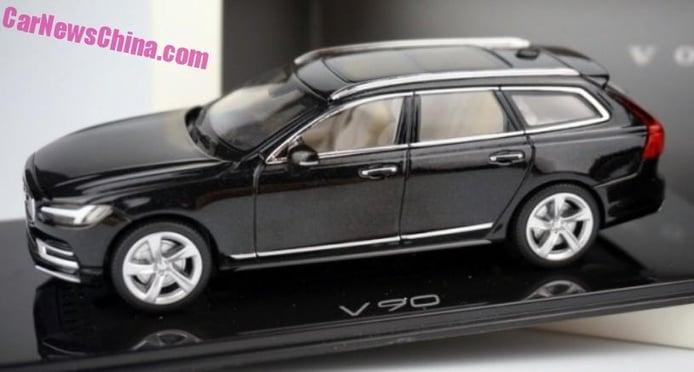 Volvo V90 2016: su diseño de producción, filtrado a escala 1:43