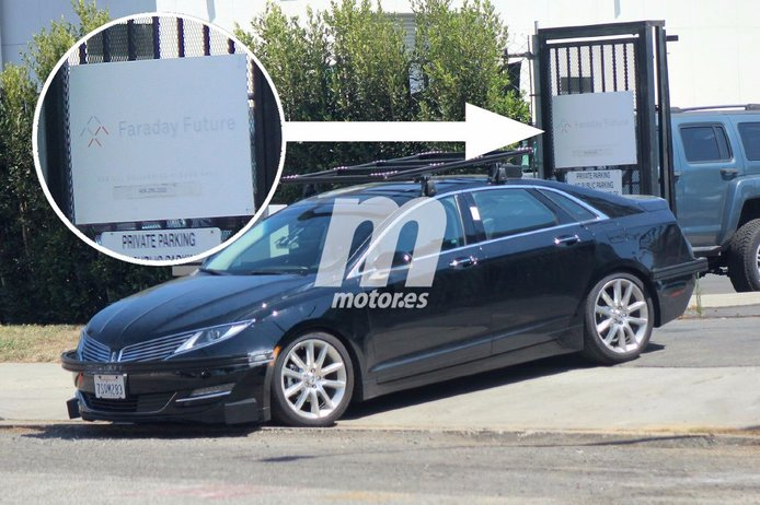 Bajo este Lincoln MKZ se esconde un Faraday Future de producción