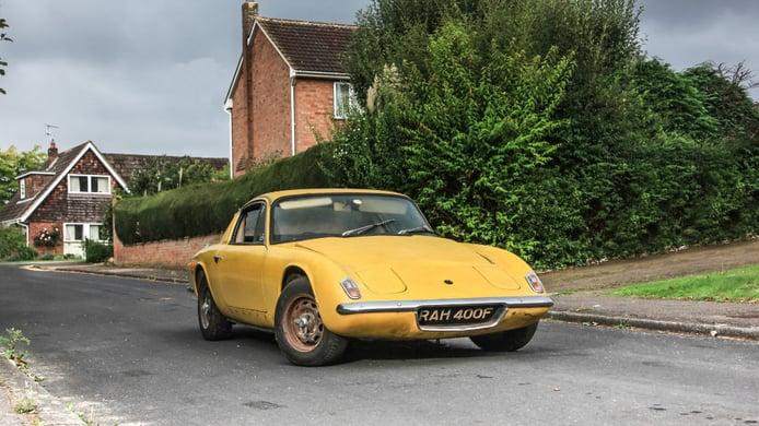 Aparece el Lotus Elan de Graham Hill tras casi 4 décadas oculto