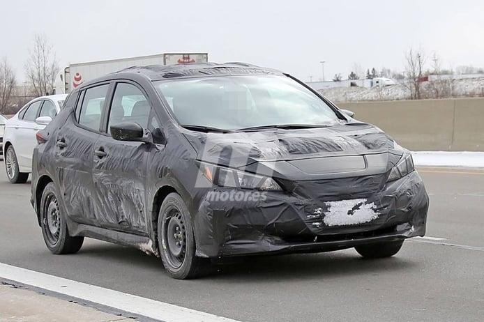 Nissan Leaf 2018: primeras fotos espía de la segunda generación del popular eléctrico