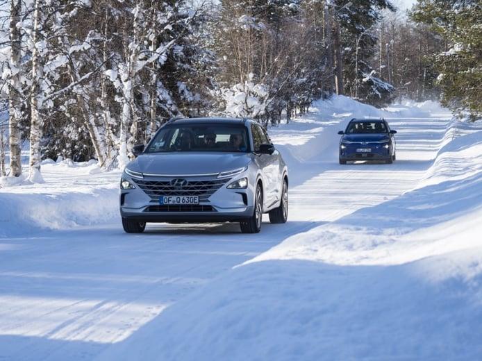 Hyundai explica las pruebas de invierno de los nuevos NEXO y Kona Eléctrico en Laponia