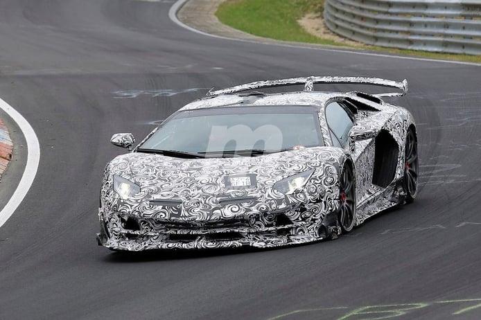 El Lamborghini Aventador SuperVeloce Jota durante sus últimas pruebas en el Ring