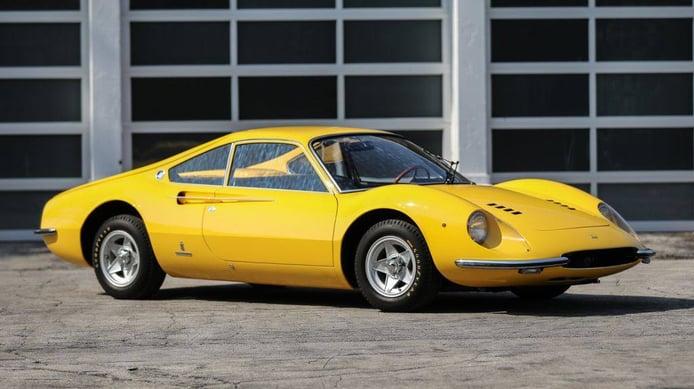 Raro prototipo único del Ferrari Dino a subasta en Pebble Beach