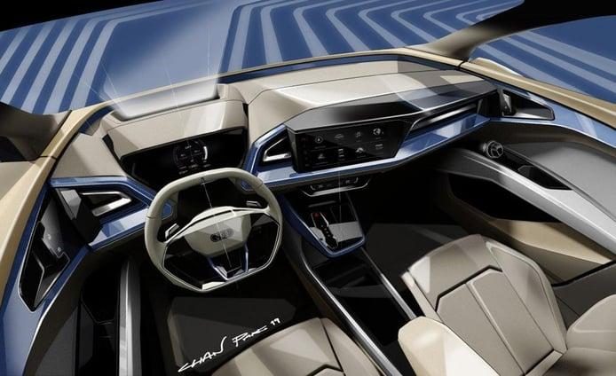 Audi ofrece un adelanto del interior del Q4 e-tron Concept