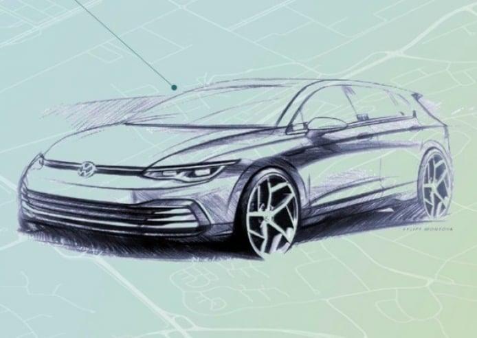 Volkswagen adelanta nuevos bocetos del diseño exterior e interior del Golf 8