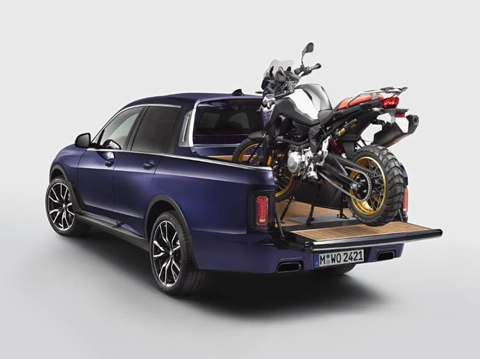 BMW ha convertido el X7 en pick-up, pero no lo podrás comprar
