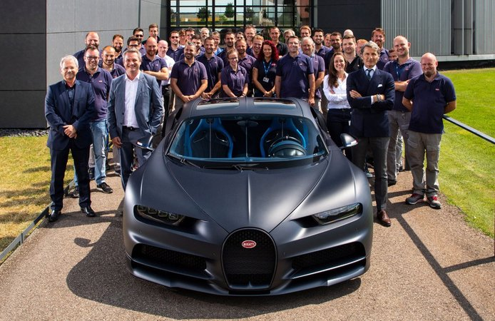 Bugatti presenta el Chiron número 200 fabricado