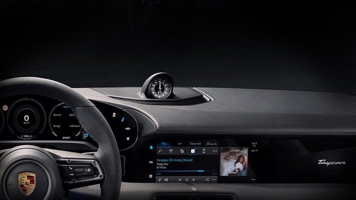 Los clientes del Porsche Taycan podrán disfrutar de Apple Music en su eléctrico