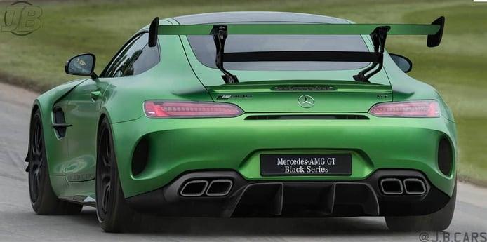 El futuro Mercedes-AMG GT R Black Series contará con una trasera brutal