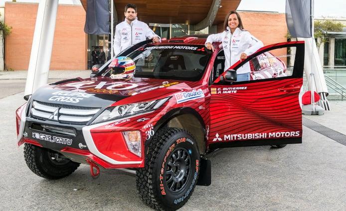 Cristina Gutiérrez presenta el Mitsubishi Eclipse Cross con el que correrá el Dakar