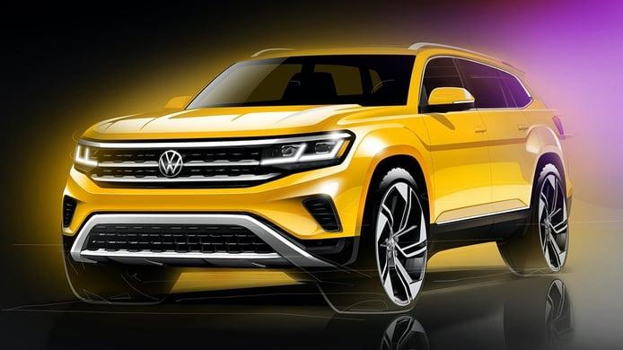 El nuevo Volkswagen Atlas 2020 se vislumbra en estos bocetos