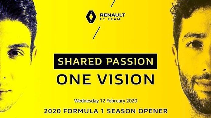 Renault confirma que presentará su F1 de 2020 el 12 de febrero