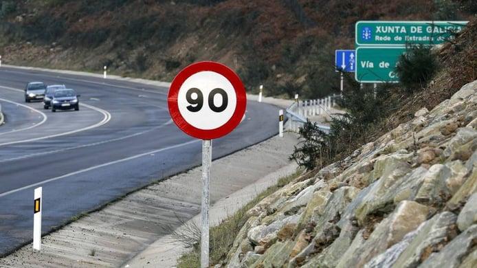Límites de velocidad en España por cada tipo de carretera