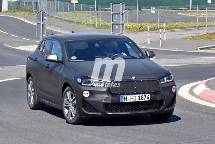 El BMW X2 Facelift se deja ver en nuevas fotos espía, esta vez en Nürburgring