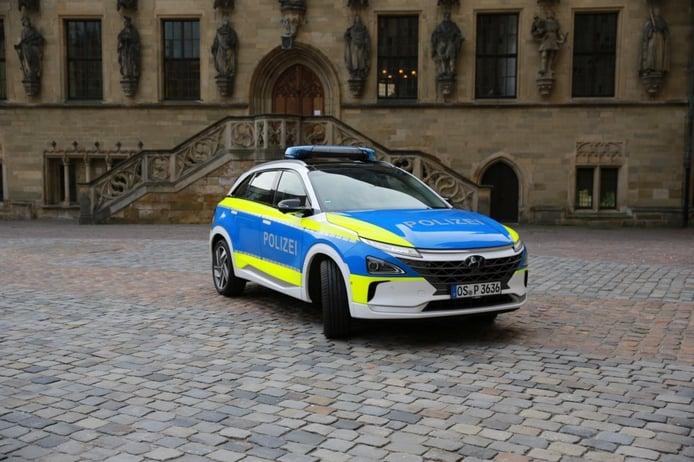 El Hyundai NEXO demuestra las posibilidades del hidrógeno como coche de policía