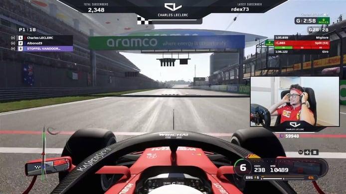 Leclerc repite victoria virtual en el GP de China; Sainz cierra el top 10