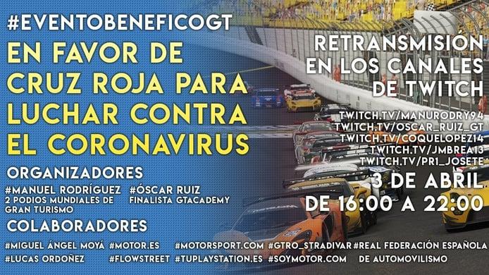 Evento Benéfico Gran Turismo, para apoyar la lucha contra el COVID19