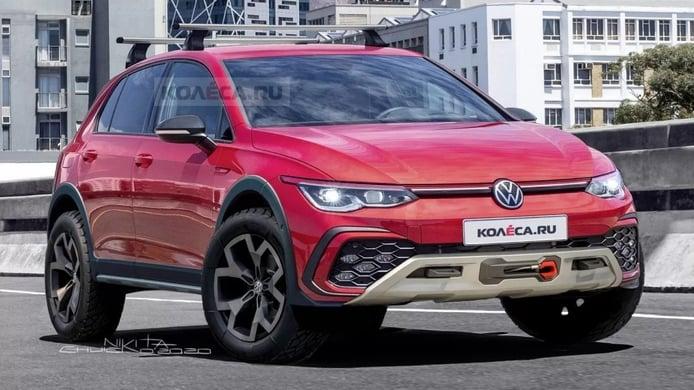 Una recreación muestra el nuevo Volkswagen Golf Alltrack, heredero del Golf Country