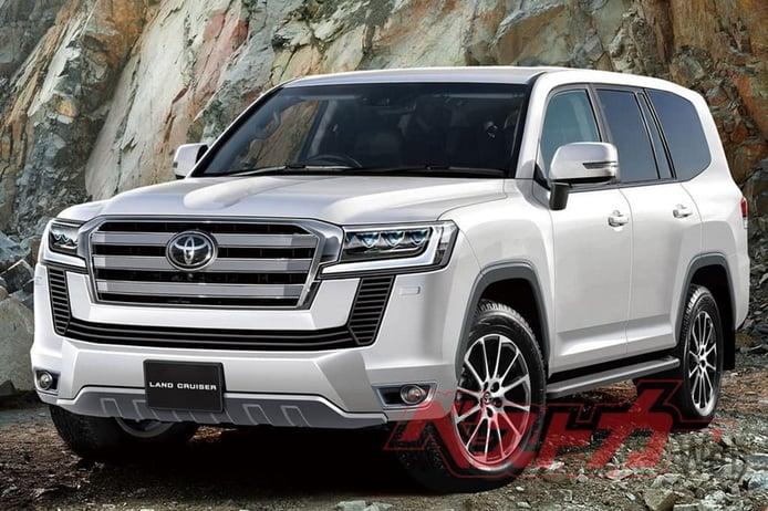 Primeras recreaciones del futuro Toyota Land Cruiser 300 híbrido