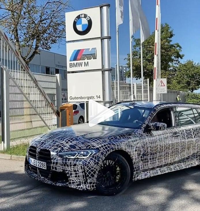 Un vídeo teaser muestra los primeros prototipos del nuevo BMW M3 Touring 2022
