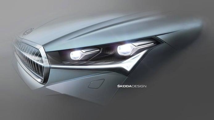 Así son los faros del Skoda Enyaq iV, el esperado SUV 100% eléctrico