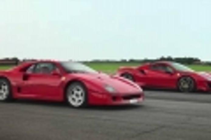 Ferrari F40 vs. Ferrari 488 Pista. Duelo entre el pasado y el presente de Ferrari