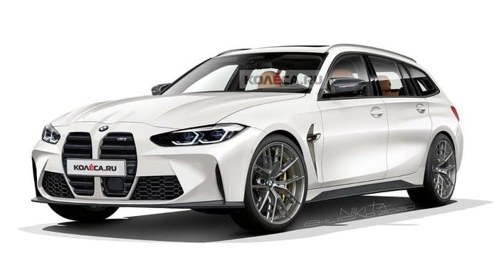 Así se verá el BMW M3 Touring con el frontal definitivo de los M3/M4