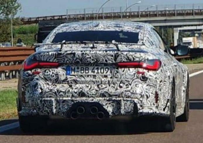 Posible prototipo del futuro BMW M4 CSL cazado en la calle