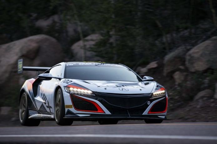 El Honda NSX fija un nuevo récord para vehículos híbridos en Pikes Peak