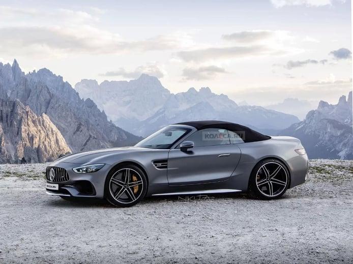 Primeras recreaciones del futuro Mercedes SL generación R232