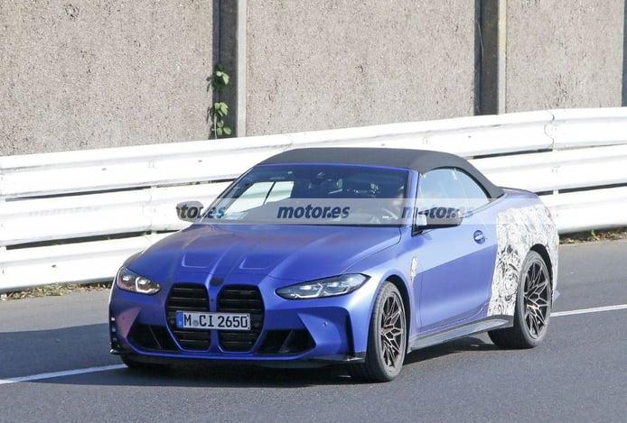 El BMW M4 Cabrio 2021 G83 se desnuda en unas nuevas fotos espías en Nürburgring