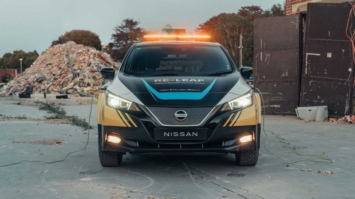 Nissan Re-LEAF, el eléctrico japonés se transforma en vehículo de rescate