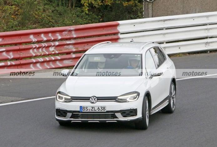 Los prototipos del nuevo Volkswagen Golf R Variant 2021, de pruebas en Nürburgring