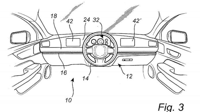 Volvo patenta un curioso sistema de volante y puesto de mandos deslizantes